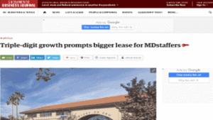 md staffers triple digit growth prompts bigger lease rancho cordova